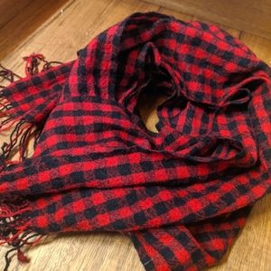 Buffalo Plaid Check Red Black Wool Scarf Shawl Checkered Canada
